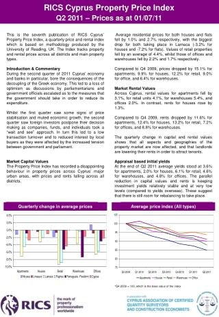 RICS Cyprus Property Price Index  Q2  201 1 – Prices as at 01/07/11