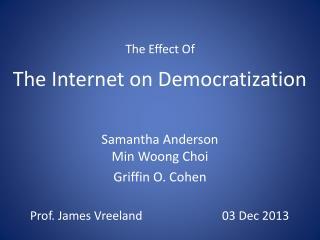 The Internet on Democratization