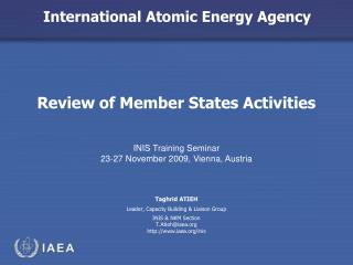 Review of Member States Activities