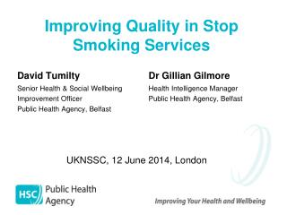 Improving Quality in Stop  Smoking Services