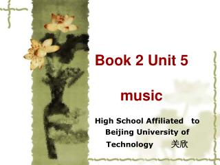 Book 2 Unit 5  music