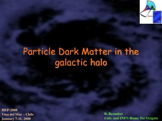 Particle Dark Matter in the galactic halo