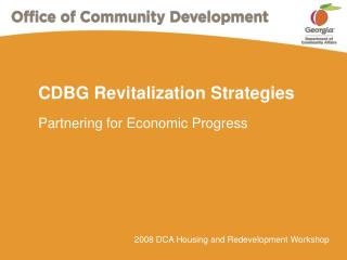 CDBG Revitalization Strategies
