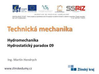 Hydromechanika  Hydrostatický  paradox 09