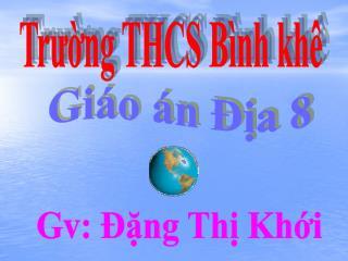 Trường THCS Bình khê