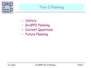 Tier-2 Planning