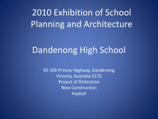 Dandenong High School