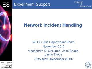 Network Incident Handling