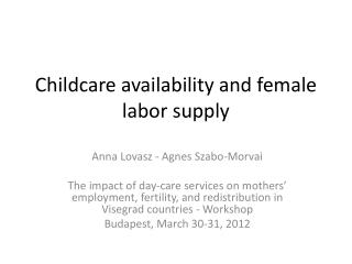 Childcare availability and female labor supply