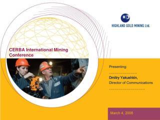 CERBA International Mining Conference