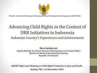 UNICEF High Level Meeting on Child Right Protection in Asia and Pacific