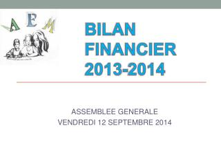 BILAN FINANCIER 2013-2014