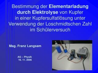 Mag. Franz Langsam
