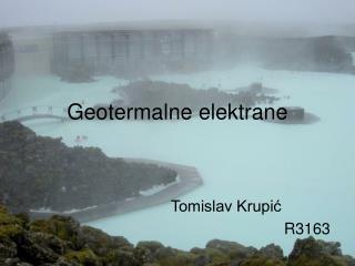 Geotermalne elektrane