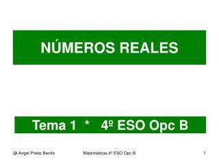 Tema 1  *   4º ESO Opc B