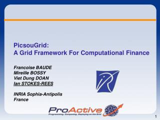 PicsouGrid: A Grid Framework For Computational Finance