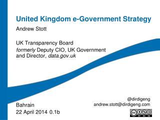 United Kingdom e-Government Strategy
