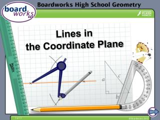 Lines in  the Coordinate Plane