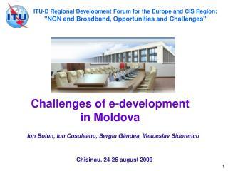 Challenges of e-development  in Moldova