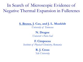 In Search of Microscopic Evidence of  Negative Thermal Expansion in Fullerenes