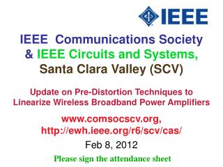IEEE  Communications Society &  IEEE Circuits and Systems,  Santa Clara Valley (SCV)