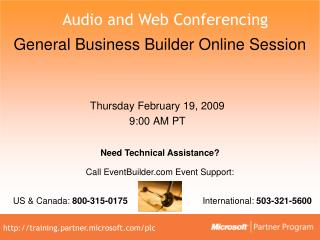 General Business Builder Online Session