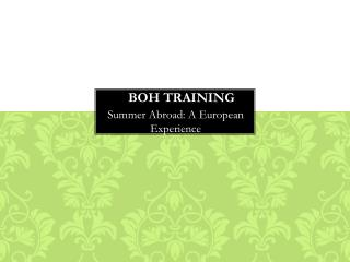 BOH TRAINING