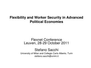 Flexnet Conference Leuven, 28-29 October 2011 Stefano Sacchi