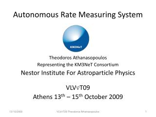 Autonomous Rate Measuring System
