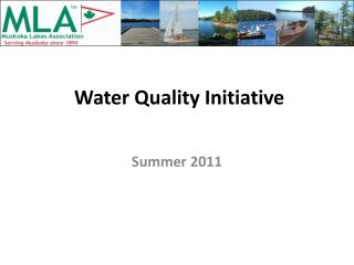 Water Quality Initiative