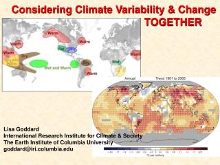 Considering Climate Variability & Change 					   TOGETHER