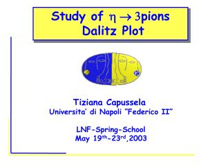 Study of  h    3 pions  Dalitz Plot