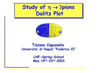 Study of  h    3 pions  Dalitz Plot