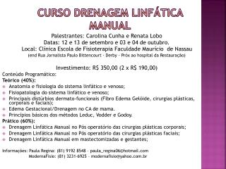 CURSO DRENAGEM LINFÁTICA MANUAl
