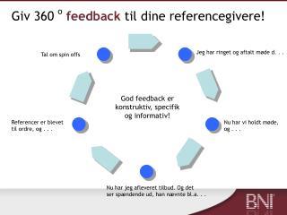 Giv 360  o feedback til dine referencegivere!