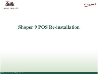 Shoper 9 POS Re-installation