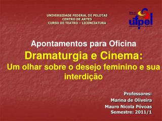 UNIVERSIDADE FEDERAL DE PELOTAS CENTRO DE ARTES CURSO DE TEATRO – LICENCIATURA