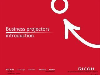 Business projectors introduction