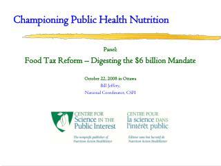 Championing Public Health Nutrition
