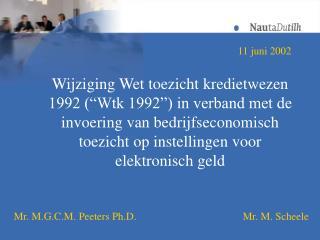 Wijziging Wet toezicht kredietwezen 1992  Wtk 1992  in verband met de invoering van bedrijfseconomisch toezicht op inste