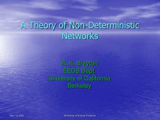 A Theory of Non-Deterministic Networks