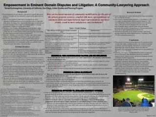 Empowerment in Eminent Domain Disputes and Litigation: A Community-Lawyering Approach