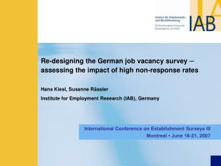 Re-designing the German job vacancy survey  ─  assessing the impact of high non-response rates
