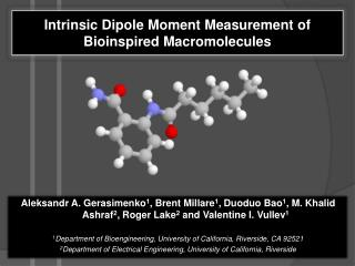 Intrinsic Dipole Moment Measurement of Bioinspired Macromolecules