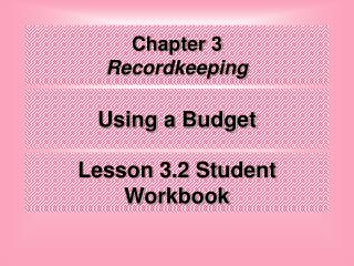 Chapter 3 Recordkeeping