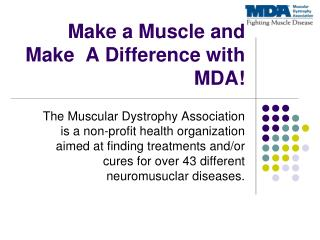 Make a Muscle and Make  A Difference with MDA!