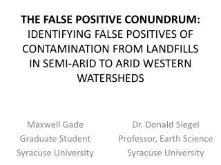 Maxwell Gade Graduate Student Syracuse University