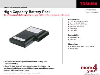High Capacity Battery Pack
