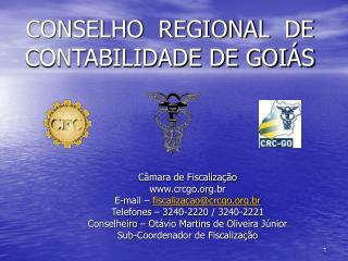 CONSELHO  REGIONAL  DE CONTABILIDADE DE GOIÁS
