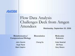 Flow Data Analysis Challenges Deck from Amgen Attendees